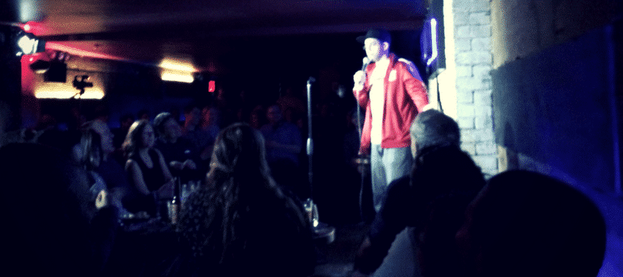Man doing stand up comedy