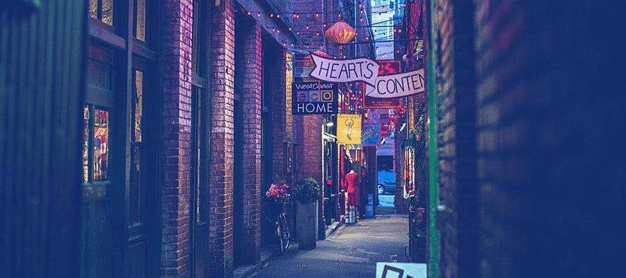 Lane in city
