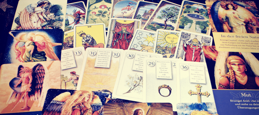 Group of tarot cards