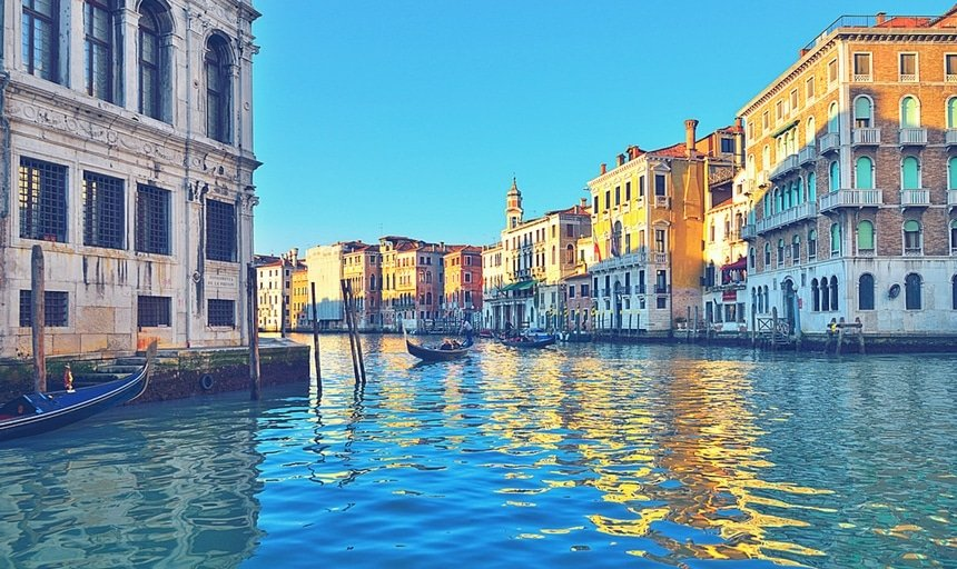 Grand canal, Venice, boats