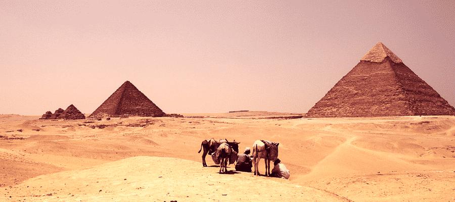 Tourists at Pyramids