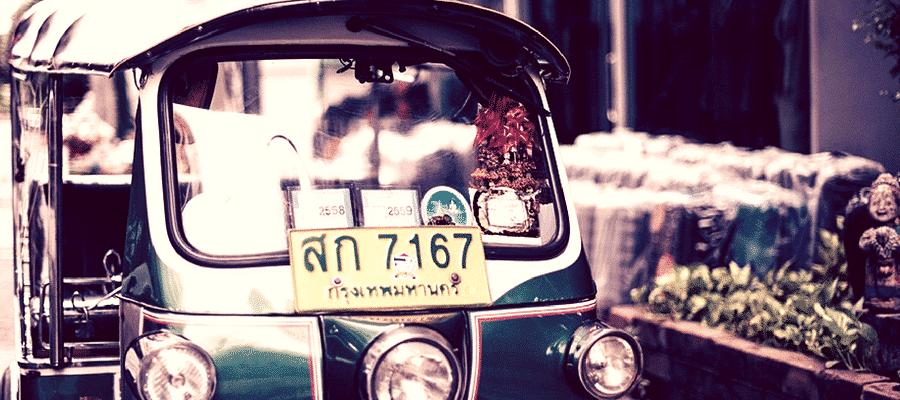 Car in Bangkok, Thailand