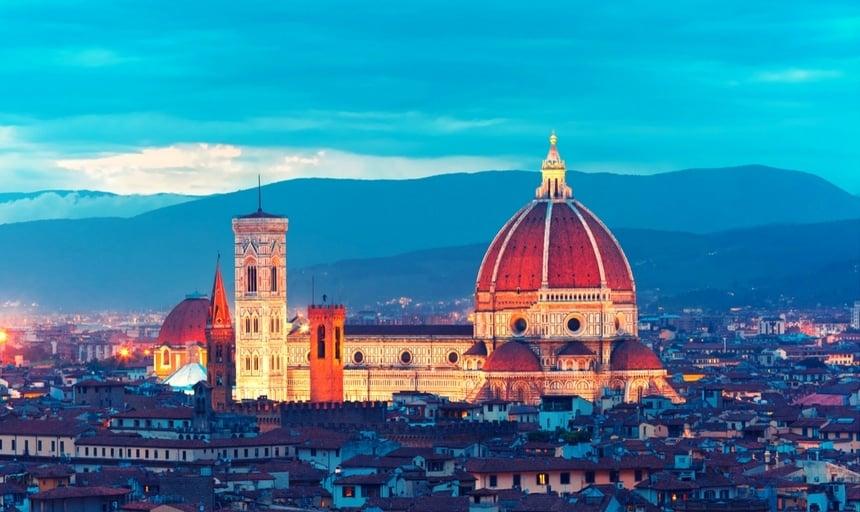 View of Duomo Santa Maria Del Fiore in Florence, Italy