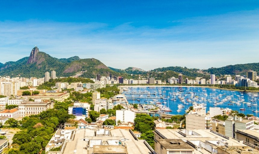 Aerial view of Rio de Janeiro, Brazil at day time