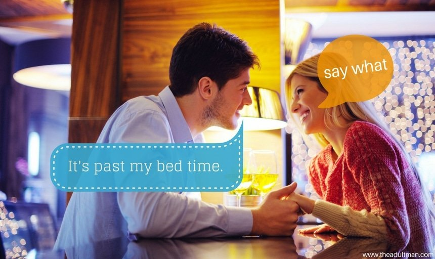 Couple on date past the guy's bedtime