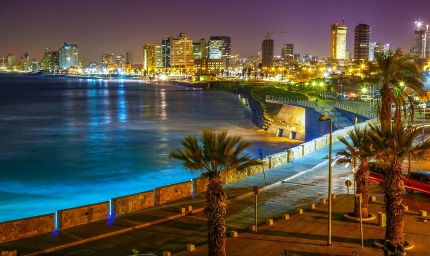 Tel Aviv, Jaffa. View at night