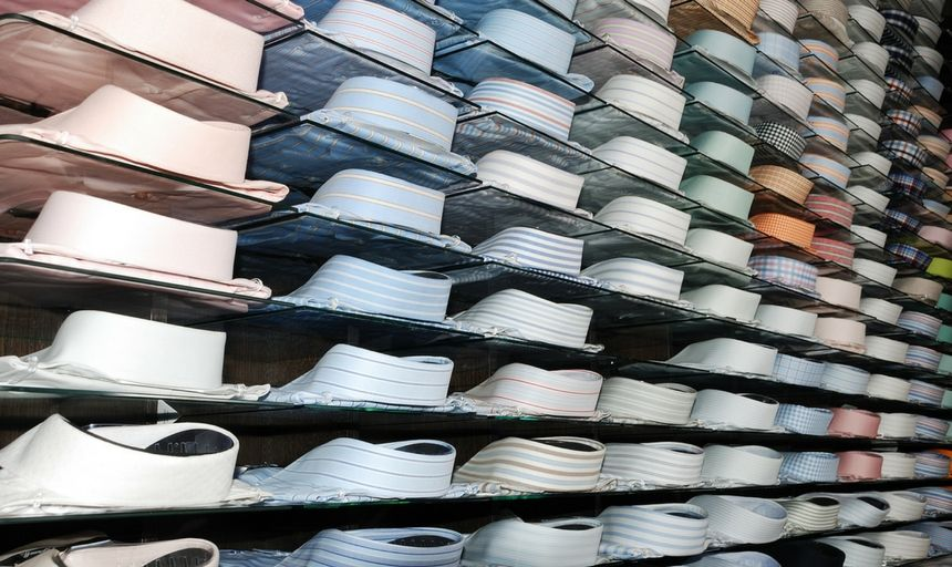 Rows of dress shirts in a store 2 1 1 1