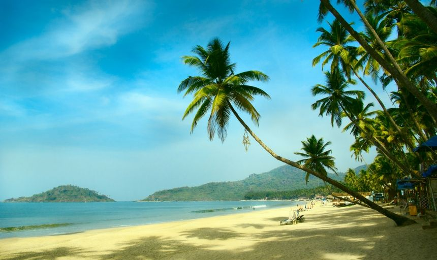 Tropical beach of Palolem, Goa, India