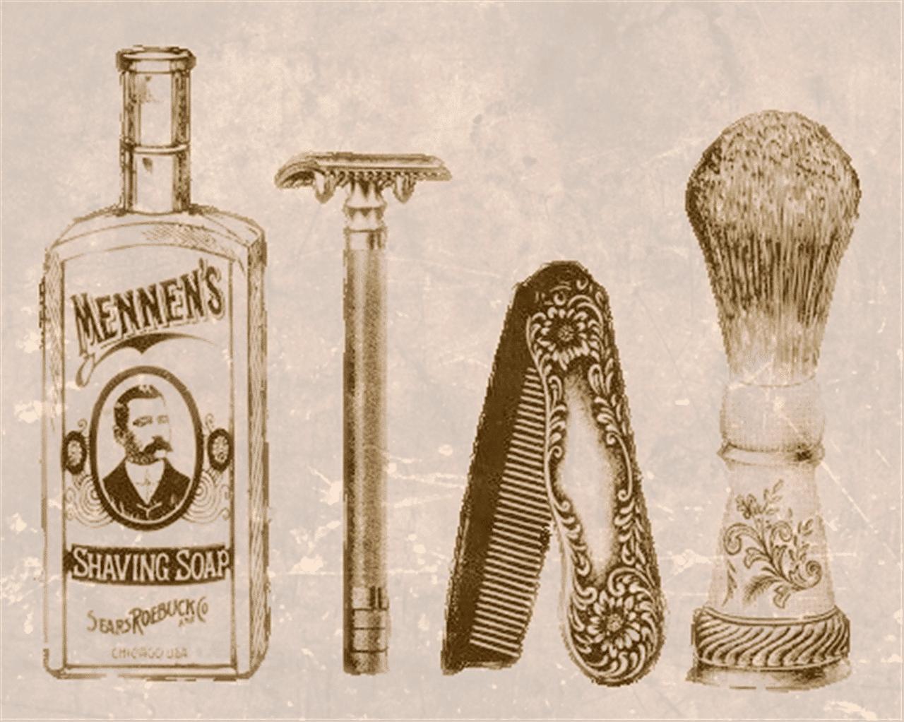 old school shaving items