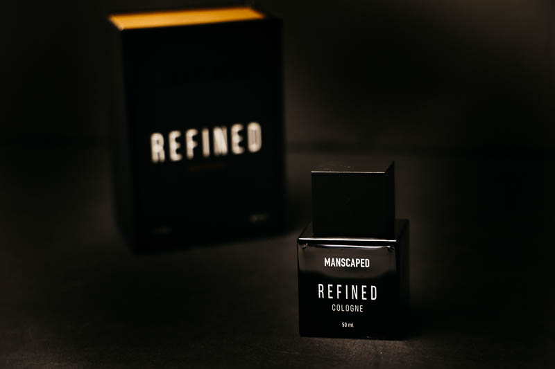 Manscaped refined cologne close up