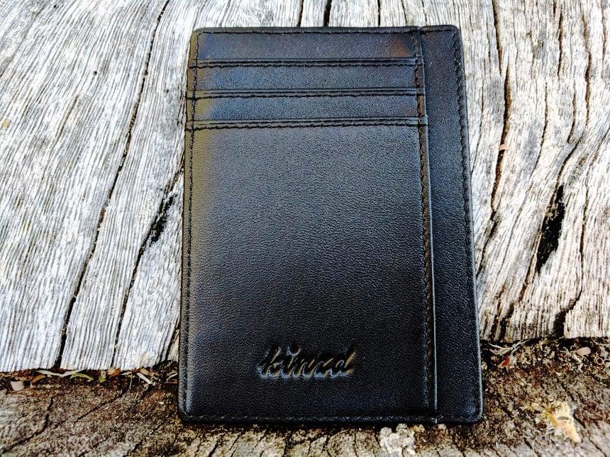 Kinzd Slim Wallet RFID Card Holder - Front