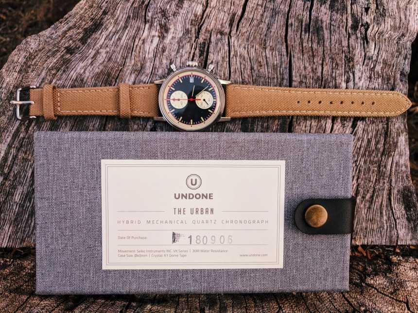 UNDONE Custom Urban Vintage Watch On Top Of Box