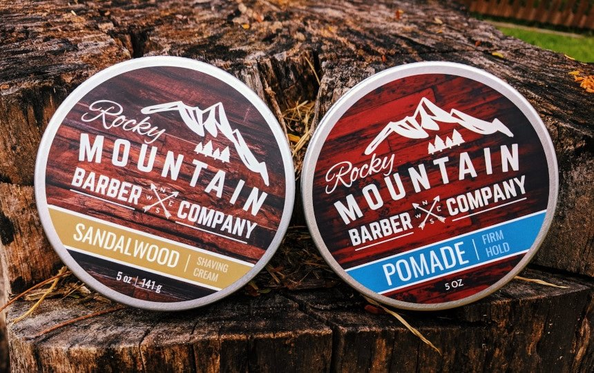 Rocky Mountain Barber Company Review: Shaving Cream and Pomade Side By Side
