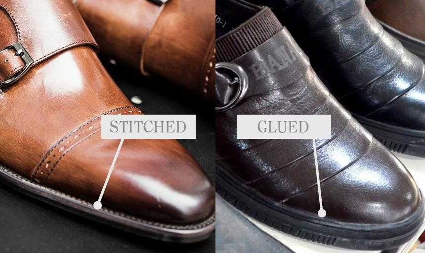 Stitched vs glued leather dress shoes