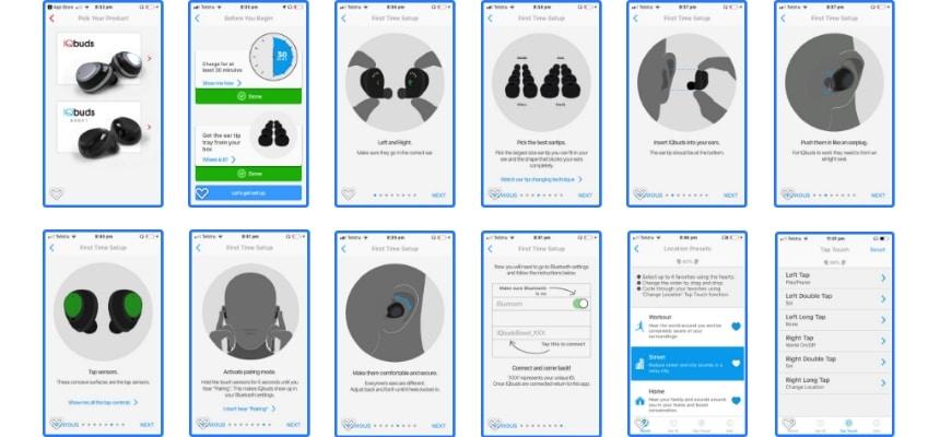 Nuheara IQbuds App Interface