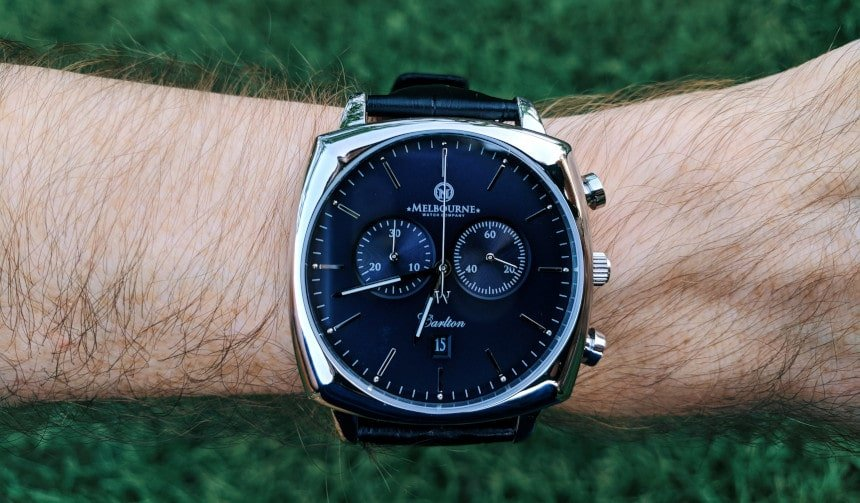 Melbourne Watch Company Carlton Black on wrist