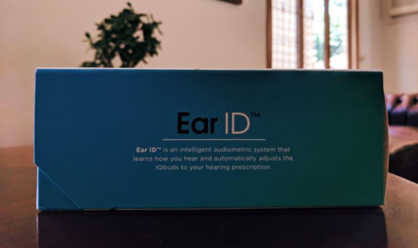 Nuhear IQbuds Boost side on Ear ID