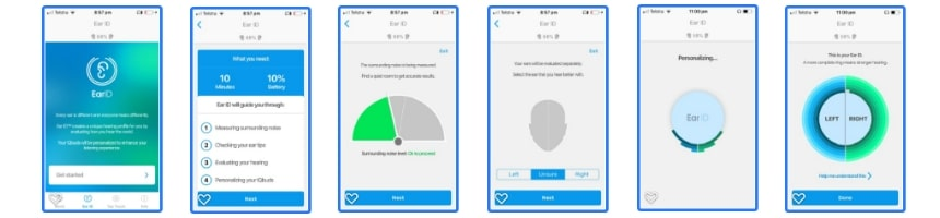 Nuheara IQbuds BOOST Ear ID app test