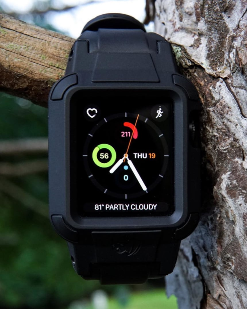 Rhino Band Stealth Black hanging on a tree