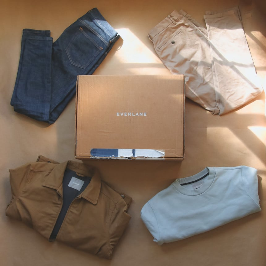 Everlane Box of Mens Clothing