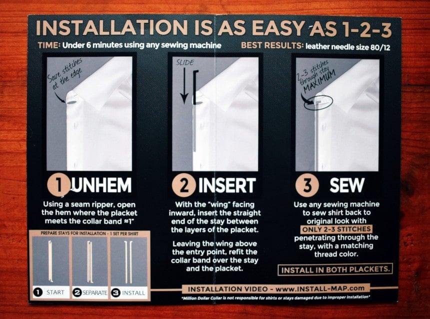 Million Dollar Collar Placket Instructions Inside Booklet
