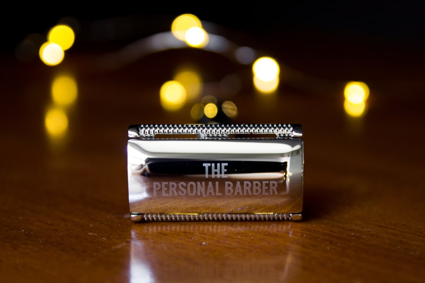 The Personal Barber Premium Double Edged Safety Razor Front On