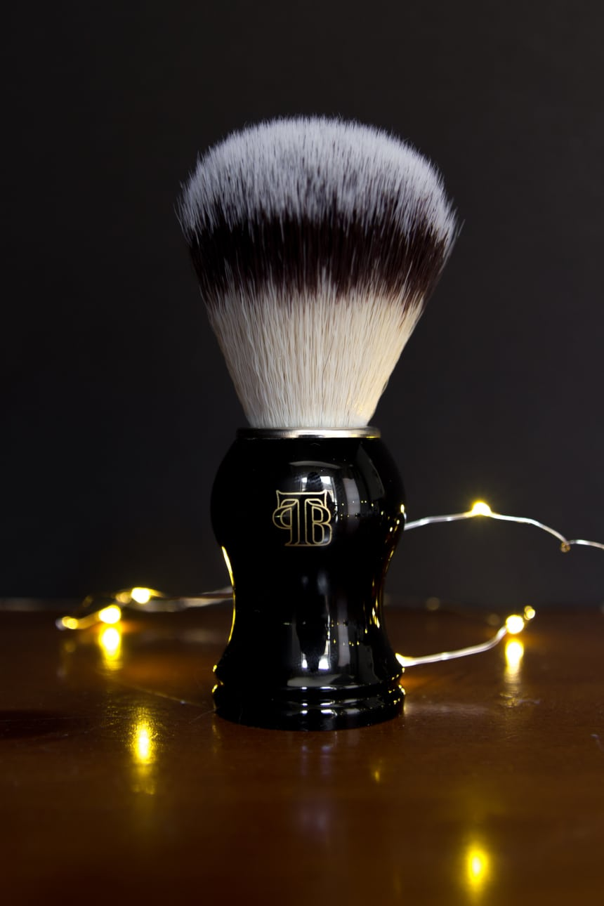 The Personal Barber Shaving Brush Standing Up