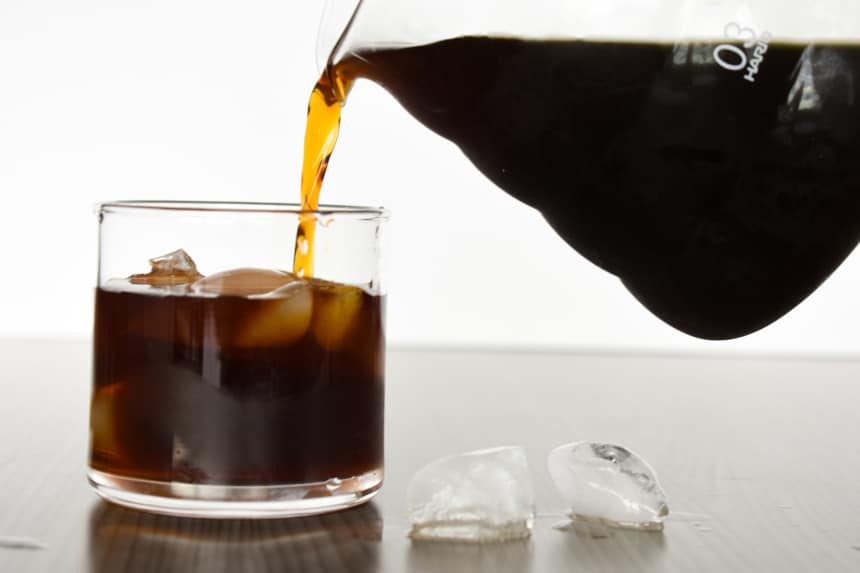 Trade Coffee Pouring Cold Brew Into a Glass