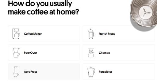 Trade Coffee Sign Up Process Screenshot B