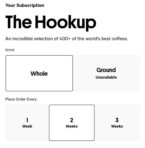 Trade Coffee Sign Up Process Screenshot I