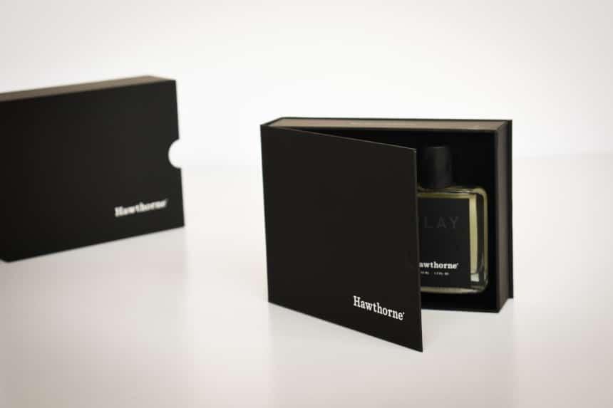 Hawthorne Fragrance Box Packaging Side On Opening Inner Box