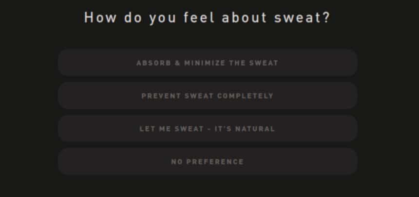 Hawthorne Quiz Screenshot Sweat Question