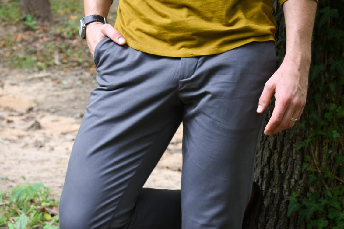 performance chino front and pocket