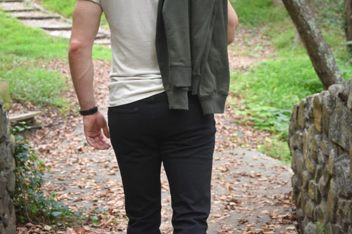 performance jean backside