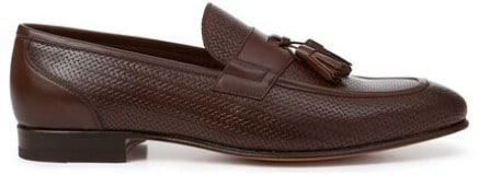 Charles Tyrwhitt Chocolate Textured Tassel Loafer Product Shot