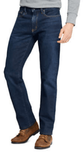 Lands End Straight Fit Comfort First Jeans Product Shot