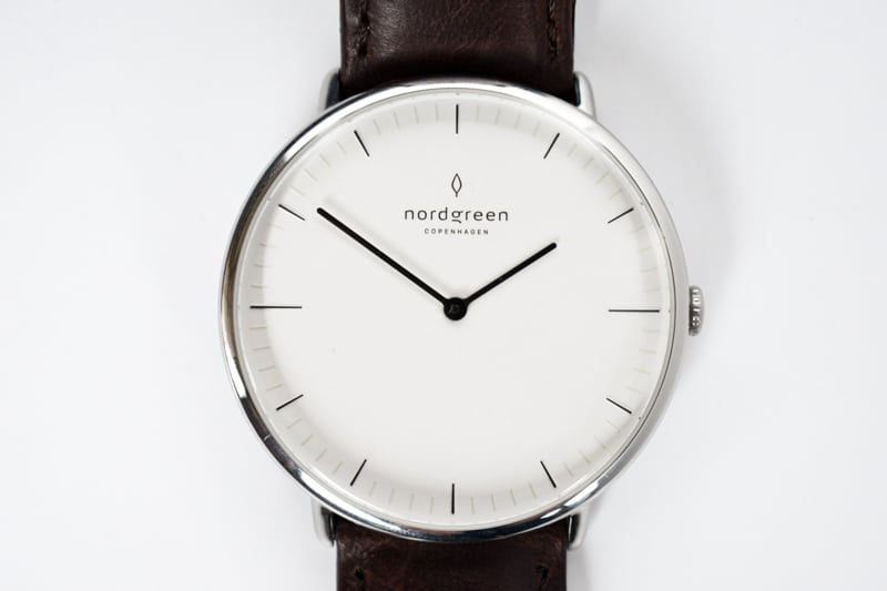 Nordgreen Native White Dial closeup