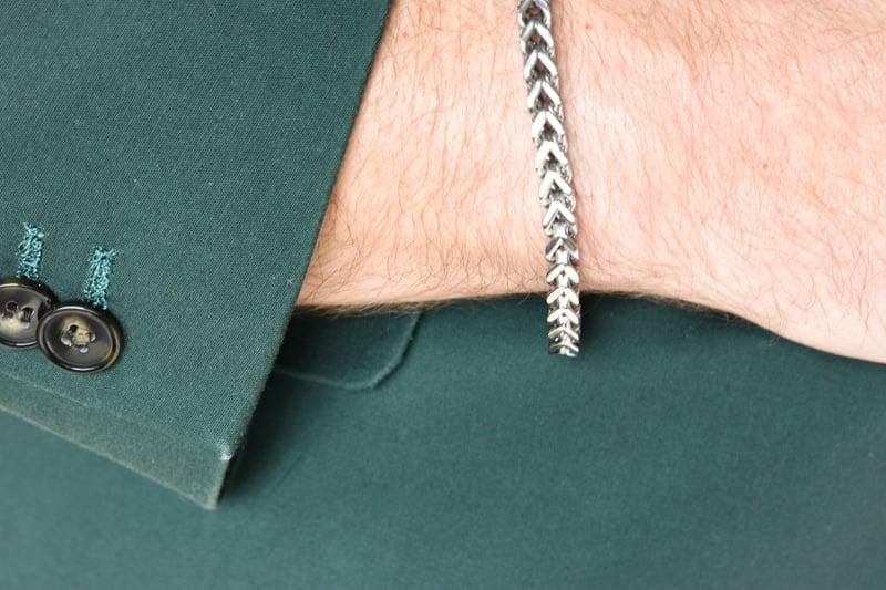 The Steel Shop Franco Link Bracelet with Suit