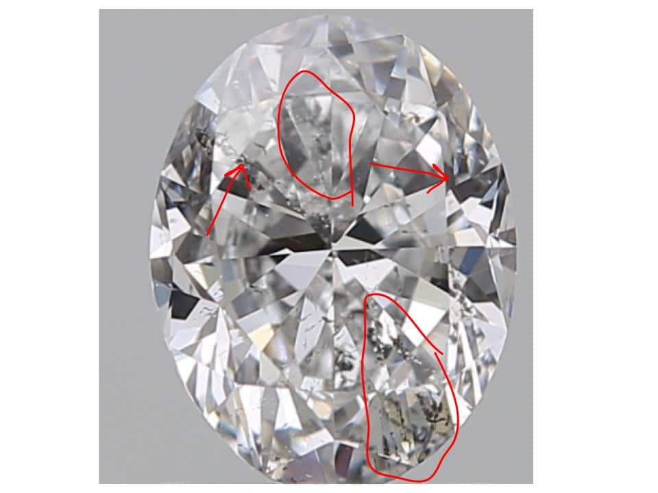 detailed markings on heavy inclusion diamond