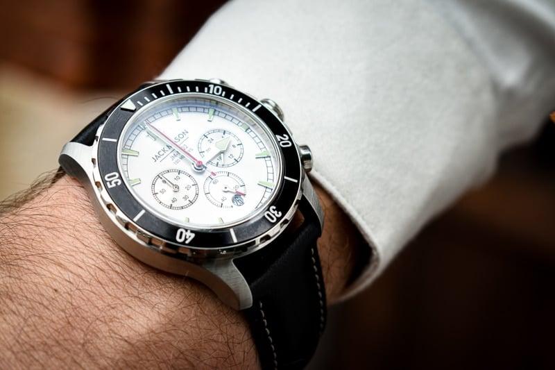 jack mason watch on wrist