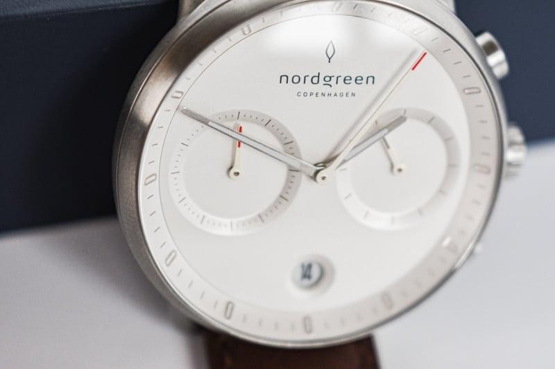 nordgreen pioneer subdial closeup