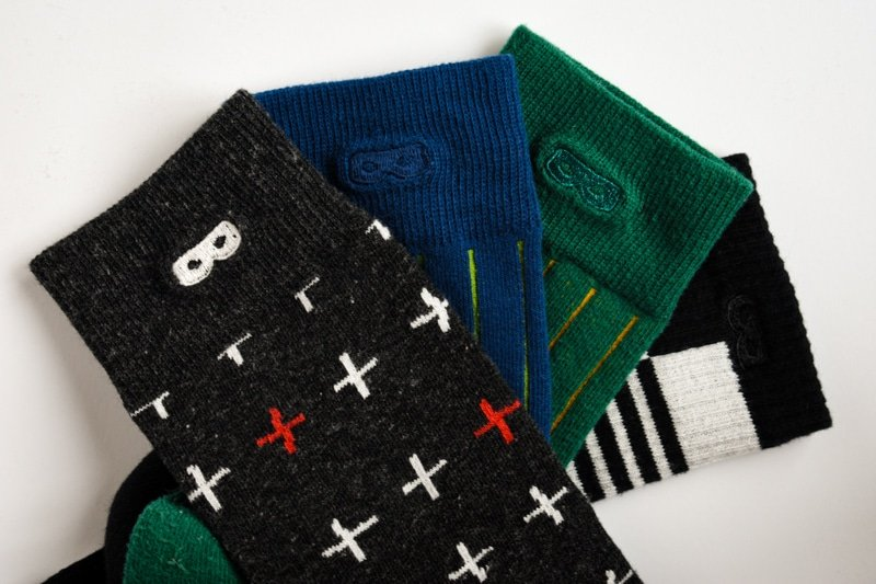 pair of thieves socks lineup four colors