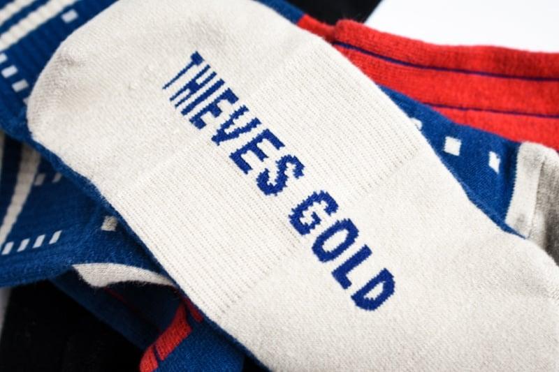 thieves gold radar mid sock