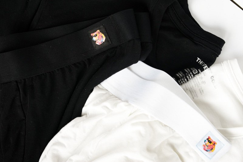 thieves gold tencel boxer briefs and shirts black and white