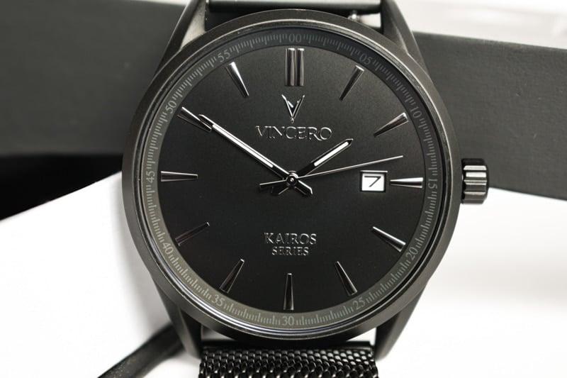 Vincero Kairos black close up