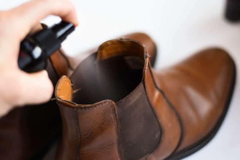 freshening chelsea boots with nomad freshener