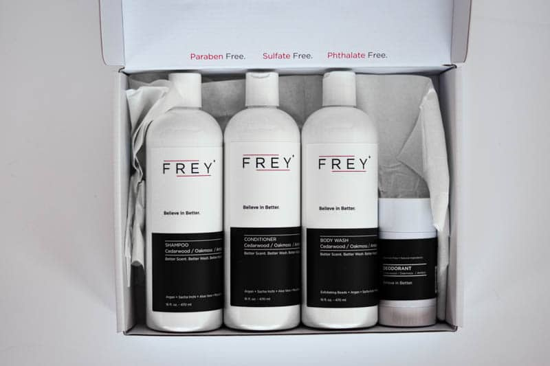 frey bottles in white box top down
