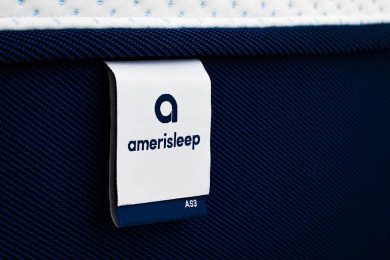 Amerisleep mattress tag closeup
