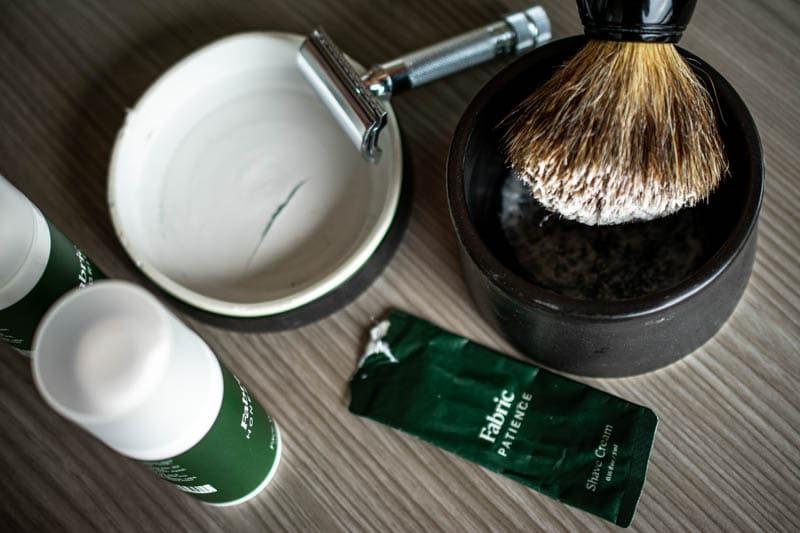 Fabric skincare shaving kit