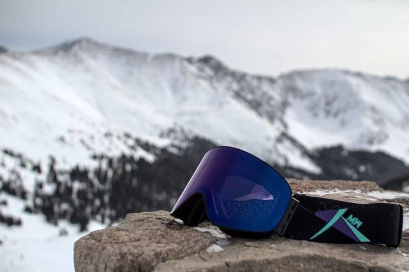 inuit goggles on slate mountain stone